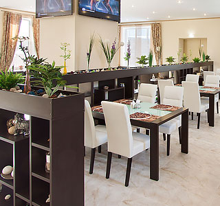 Home cooking in the cafe of «PIRAMIDA» hotel